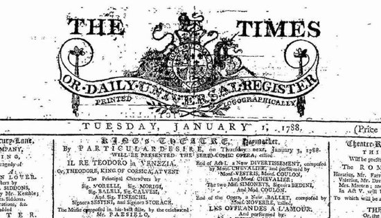 The Times, first issue - zoom