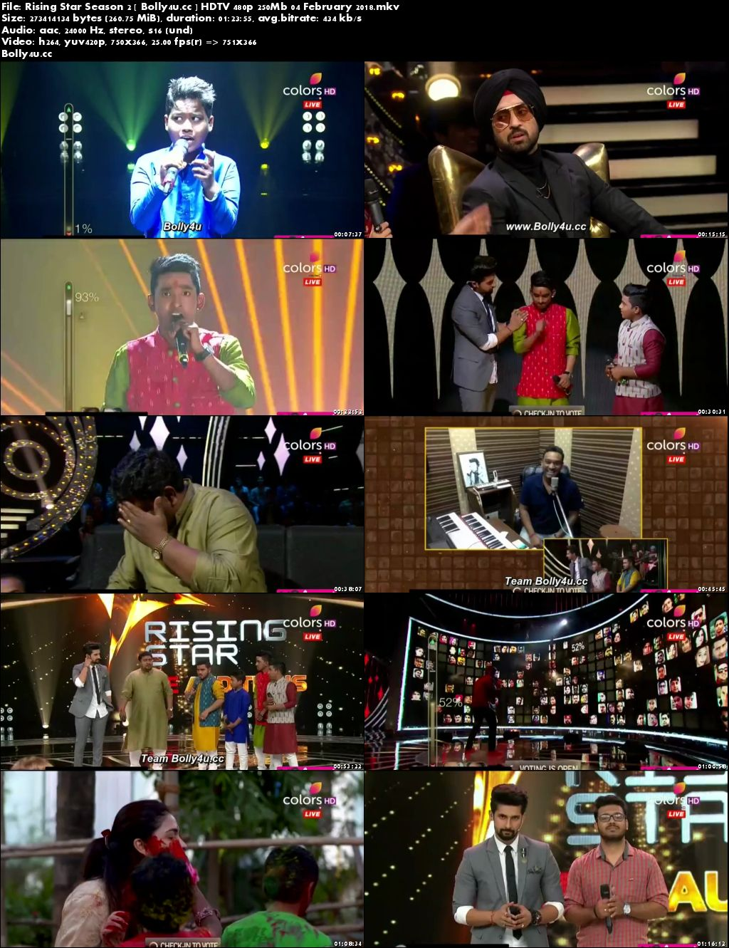 Rising Star Season 2 HDTV 480p 250Mb 04 February 2018 Download