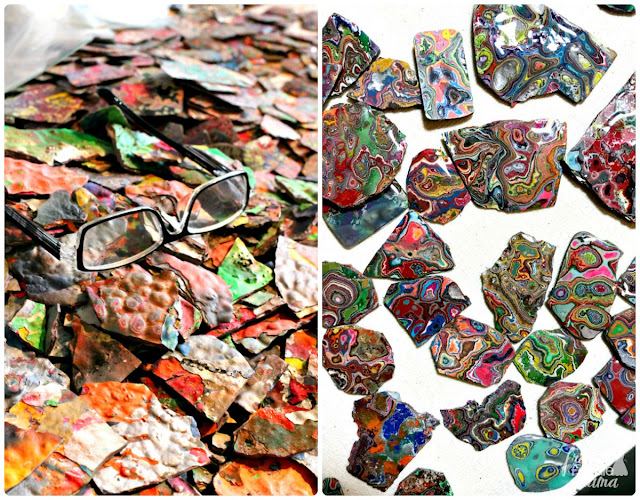 Crocodile Lile transforms paint chips from Cadillac Ranch into wearable pieces of art at his gallery in the Route 66 Historic District in Amarillo, Texas.