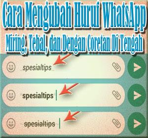 Cara Mengubah Huruf (Font) WhatsApp Menjadi Miring, Tebal, dan Dengan Coretan Di Tengah