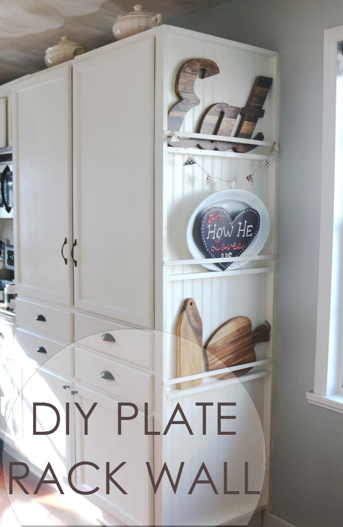 So you want to see how I added a plate rack wall to my pantry cabinet? This same concept can be done to create other types of storage as well ... & My DIY Kitchen: Plate Rack Wall - FEARFULLY u0026 WONDERFULLY MADE