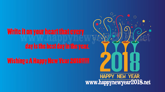 Happy New Year 2018 Greeting Message