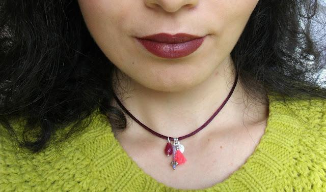Matching a posh handmade choker by Trasparent Sculptural Jewelry (Marta Roura Castellò) and cherry make-up