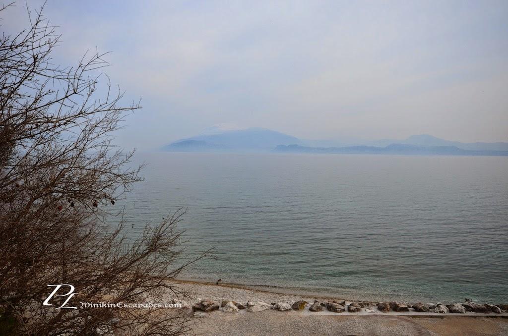 Lake garda on a cloudy day