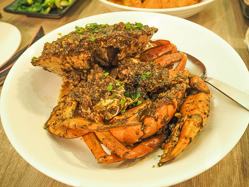 Black pepper crab at Momma Kong's, Singapore