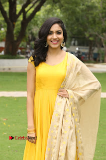 Actress Reetu Varma Stills in Yellow Salwar Kameez at Pelli Choopulu Success Meet  0091