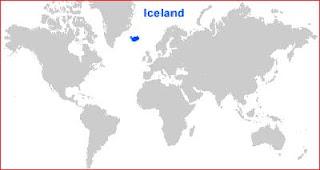 Gambar Peta letak Islandia