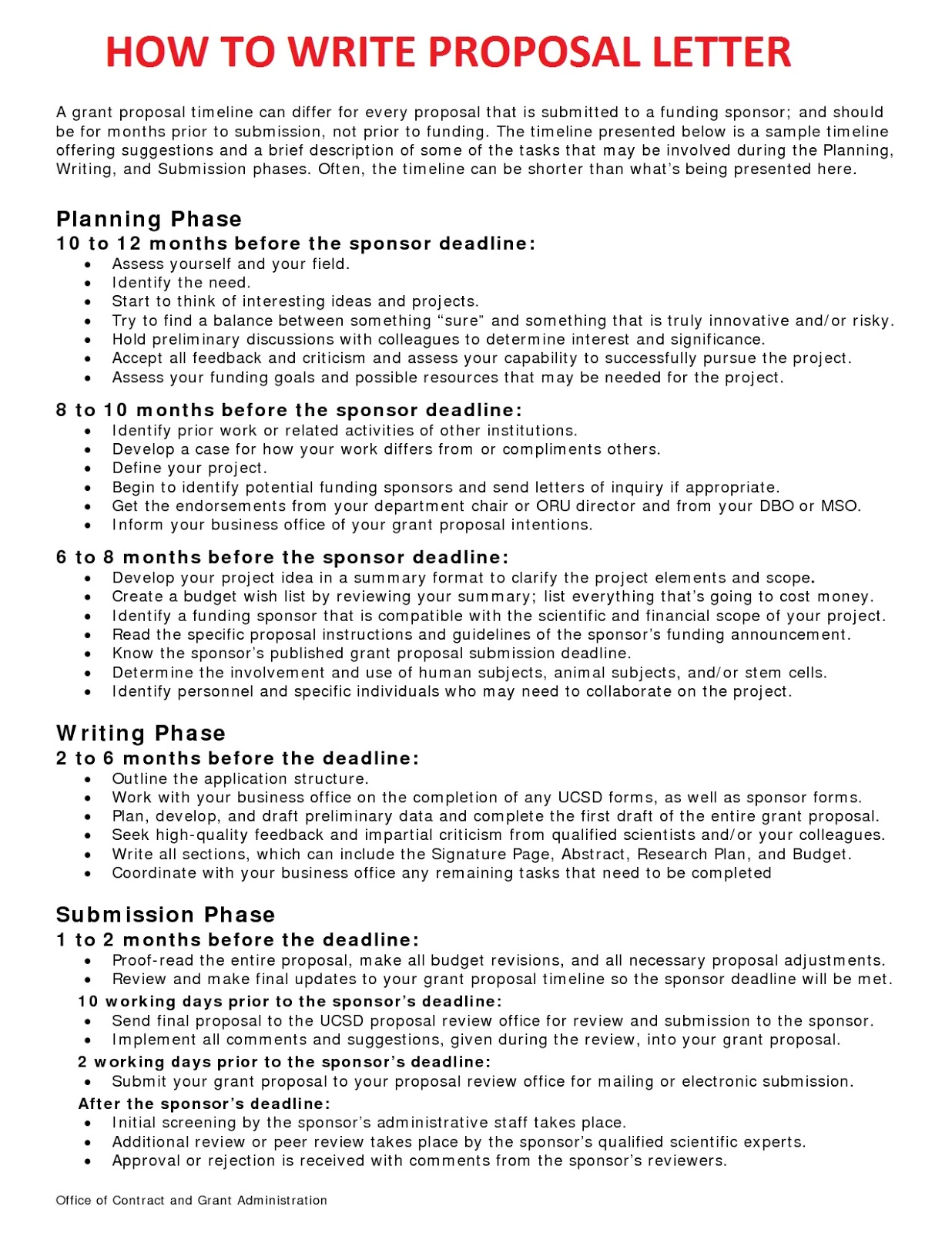 Business Proposal Document Examples – Free Examples of Business Proposals
