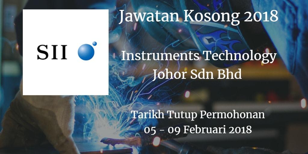 Jawatan Kosong INSTRUMENTS TECHNOLOGY (JOHOR) SDN. BHD 05 - 09 Februari 2018