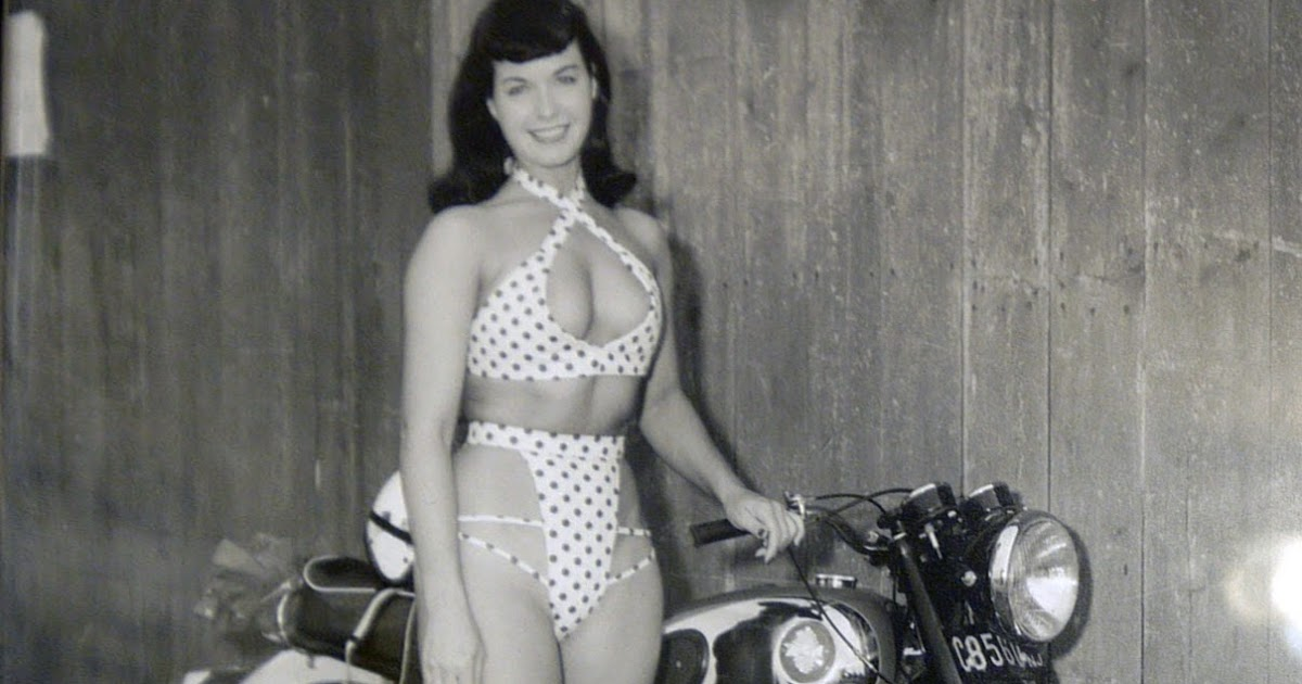 Betty Page Photos: Red Devil Motors: BSA Glamour With Betty Page