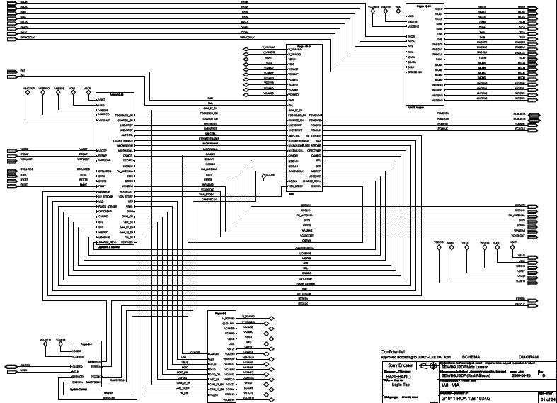 Sony Ericsson K800 Schematic Diagram  Phone Diagram