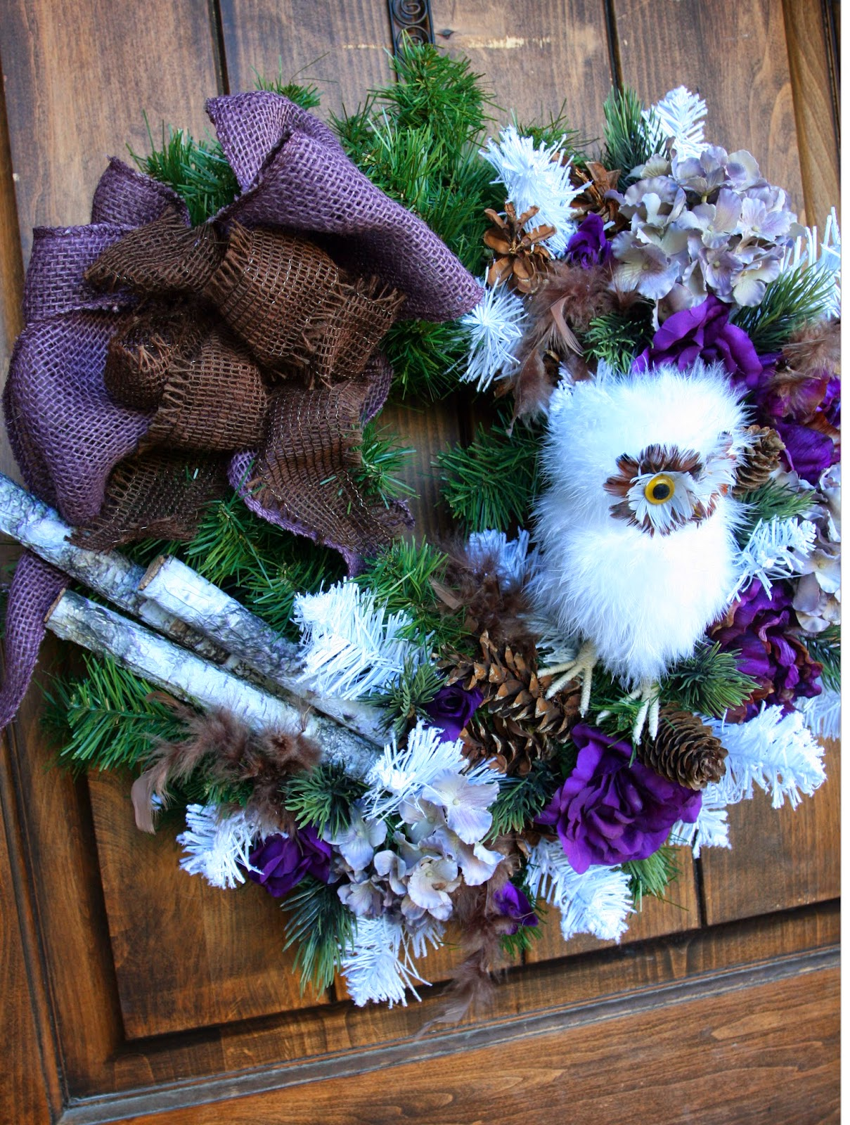 Adventures of a BusyBee: Rustic Purple Owl Christmas Decor