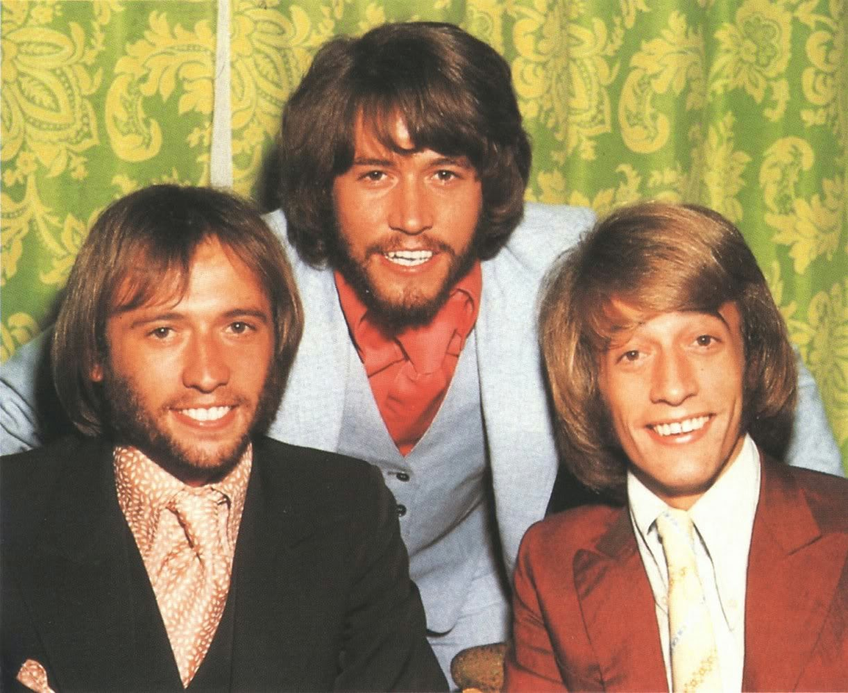 The Bee Gees were a pop music group that was formed in 1958. The group's line-up consisted of brothers Barry, Robin and Maurice Gibb. http://www.jinglejanglejungle.net/2015/01/bgs.html