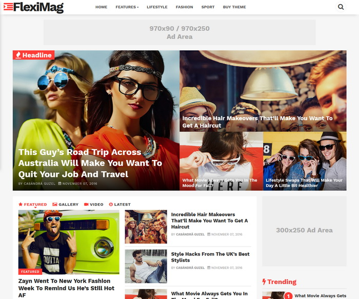 FlexiMag Blogger Template