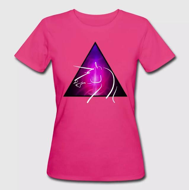 Frauen Bio-T-Shirt Unicorn Space