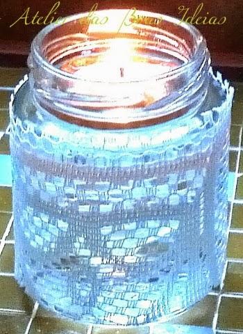 pote de vidro luminária