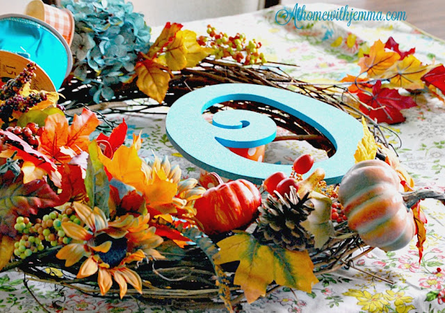 sunflower-leaves-pumpkins-pinecones-DIY