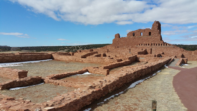 Ruins of Abo Salinas Pueblo Mission in Mountainair New Mexico