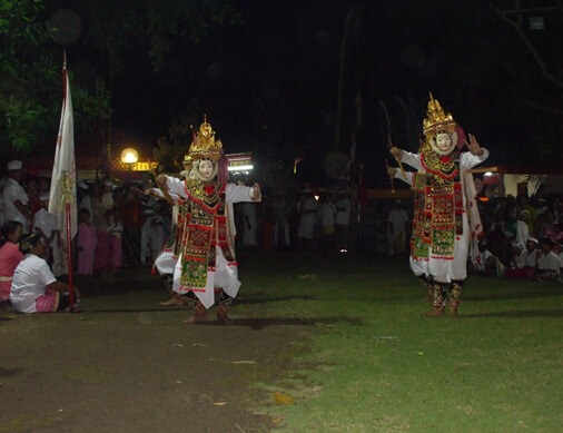 The whole of them is called the Barong Telek BaliBeaches: Telek Dance & The Story of Barong Swari