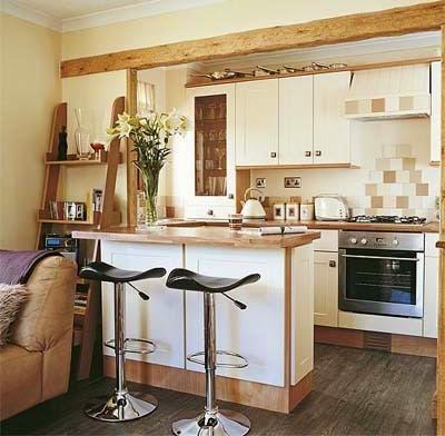 Cuando piensas en una cocina pequeña probablemente pienses en un espacio de  trabajo apretado 0830c0a4e0fc