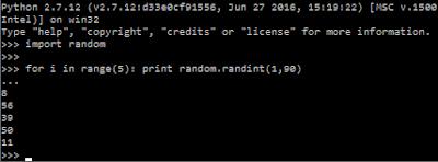 Numero Random in Python