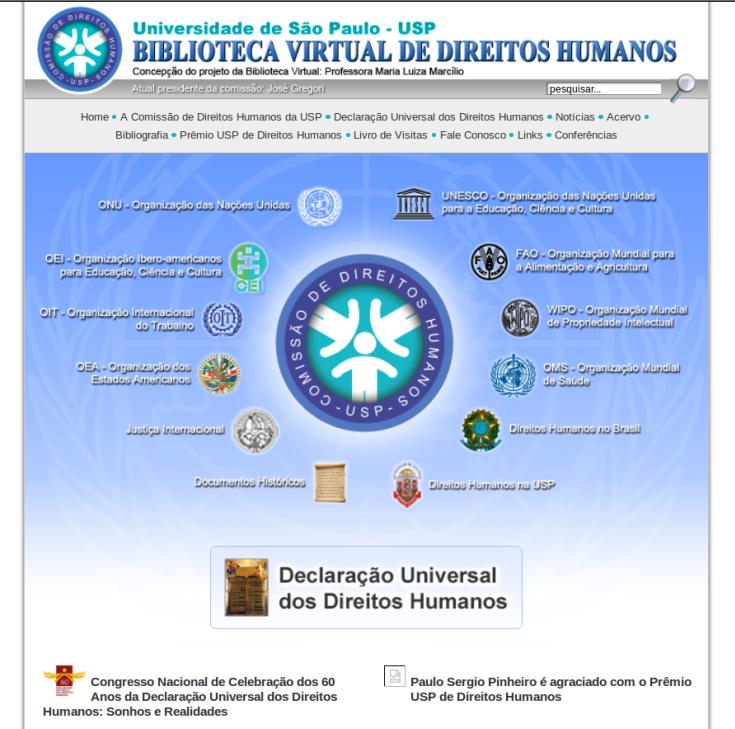 BIBLIOTECA VIRTUAL DE DIREITOS HUMANOS - UNIVERSIDADE DE SÃO PAULO