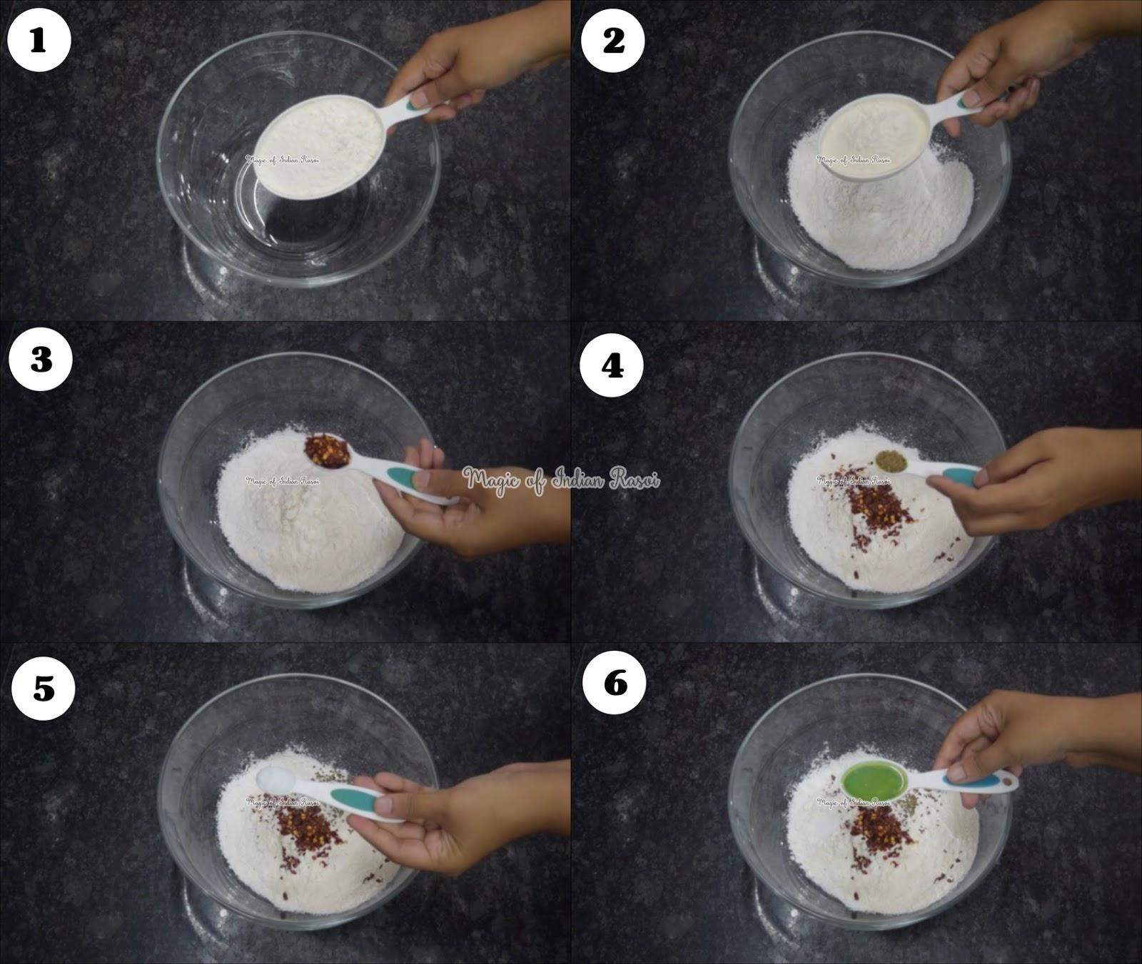 Rice & Dhaniya Mathri - चावल के आटे और हरे धनिये की मठरी - Priya R - Magic of Indian Rasoi
