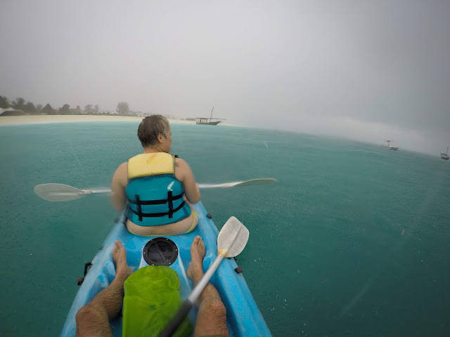 My birthday kayaking in Kendwa, Zanzibar
