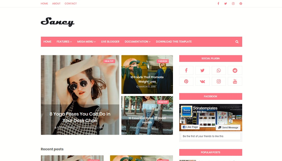 Download - Sancy Responsive Blogger Template