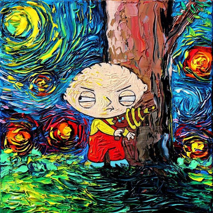 02-Stewie-Griffin-Family-Guy-Aja-Trier-Vincent-Van-Gogh-Paintings-and-a-Sprinkle-of-Pop-Culture-www-designstack-co