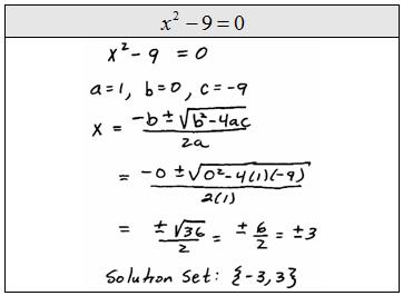 quadratic formula examples - photo #14