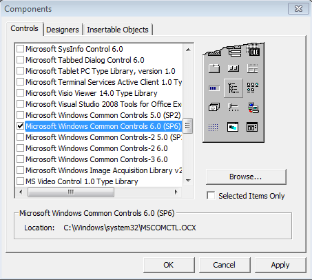Comon Controls 6.0 (SP6)