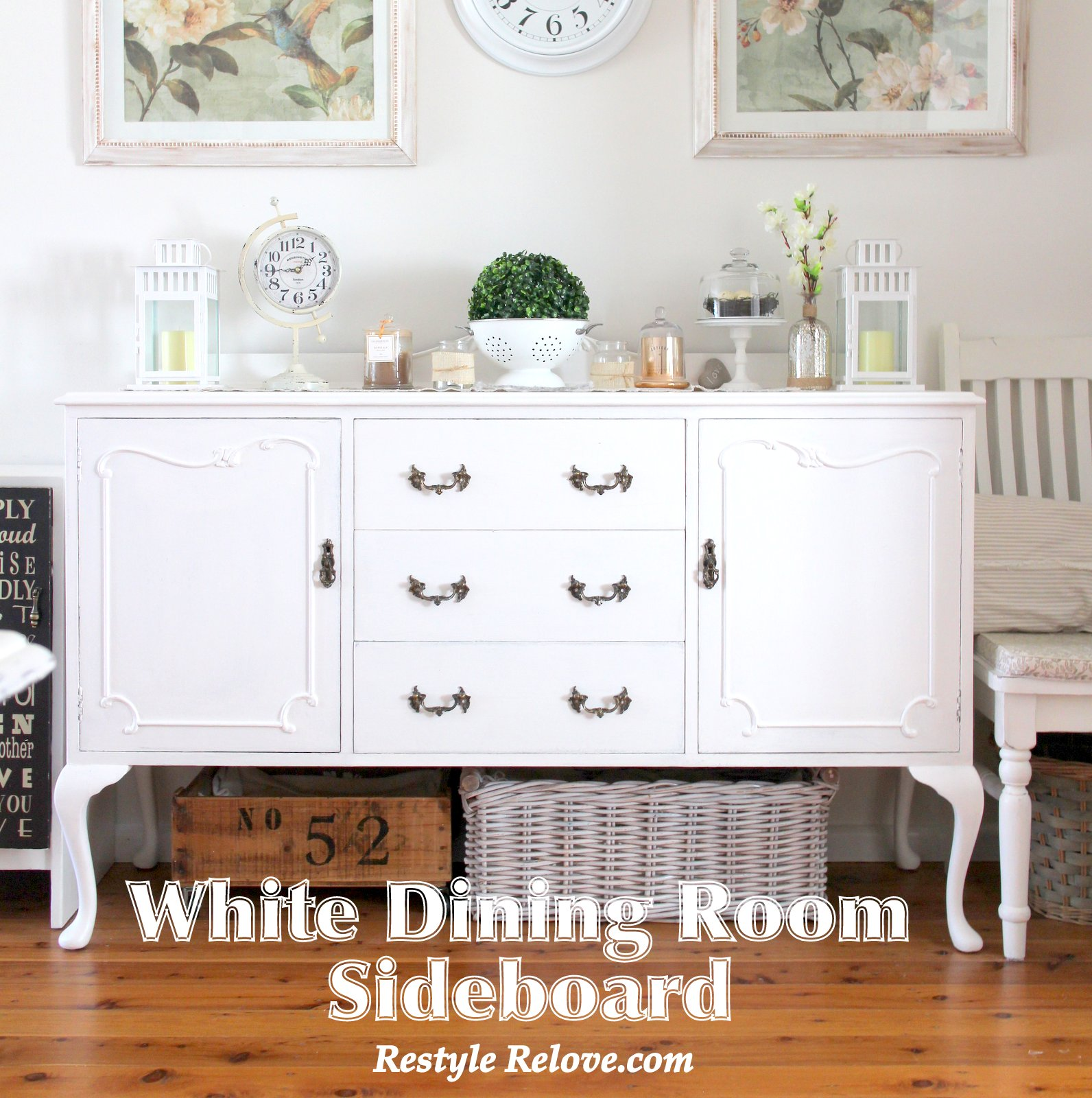 White Dining Room Sideboard