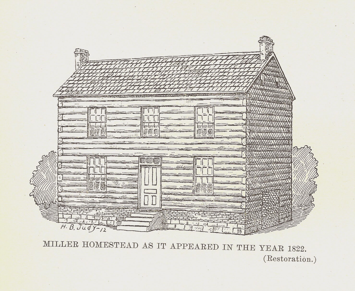 In 1818 Frederick And Elizabeth Peery Miller Left Their Home In Botetourt  County, Virginia To Make A New Home In Clark County, Ohio
