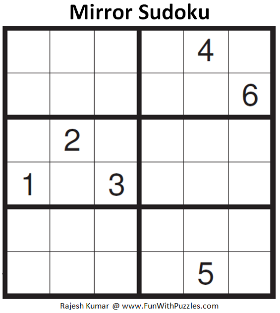 Mirror Sudoku (Mini Sudoku Series #81)