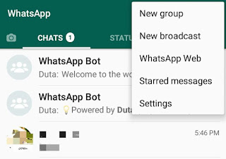 WhatsApp menu