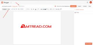 input judul lalu klik mode html
