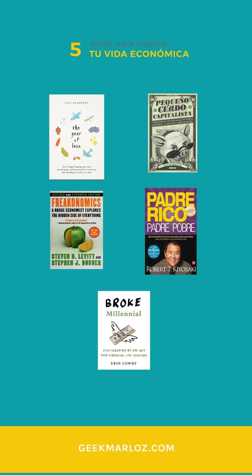 5 libros para mejorar tu vida económica