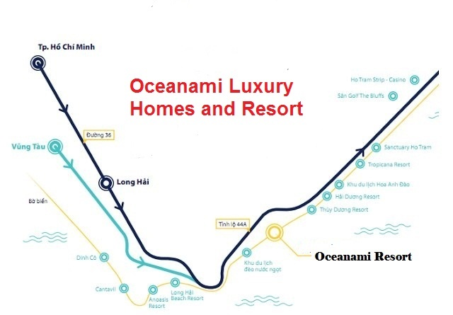 Vị trí Oceanami Luxury Homes and Resort