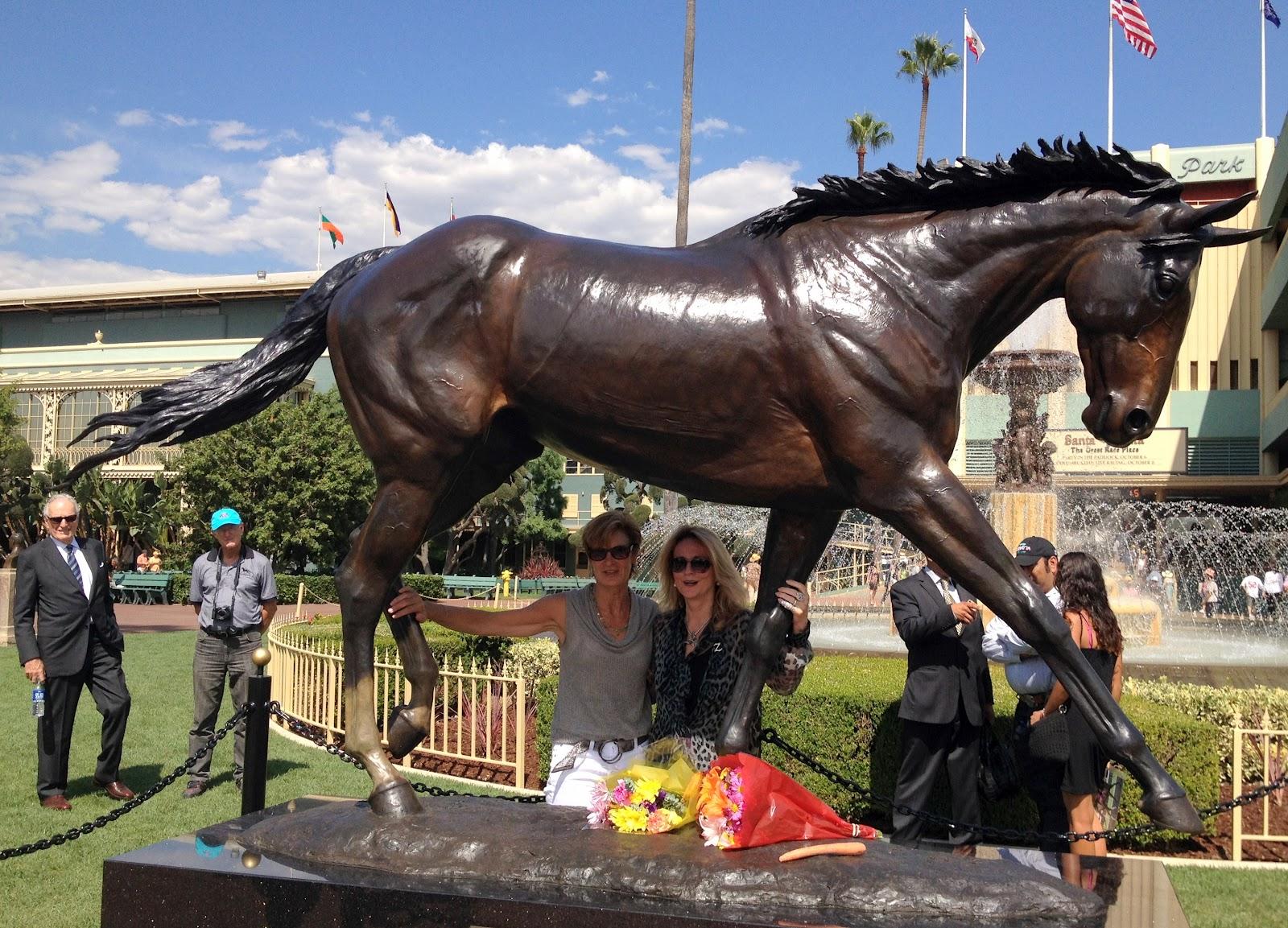 Mary Forney S Blog Zenyatta Statue Unveiled At Santa Anita