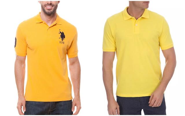 Look masculino para a copa, Camisa polo amarelo