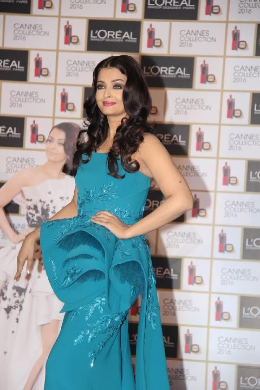 Aishwarya Rai Photos In Blue Dress At an Event