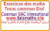 Exercices corrigés sur Représentation graphique et vaeiation des fonctions de référence -maths.TC.Biof