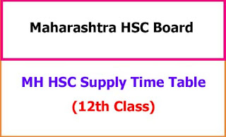 MH HSC Supply Time Table 2021