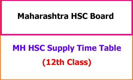 MH HSC Supply Time Table