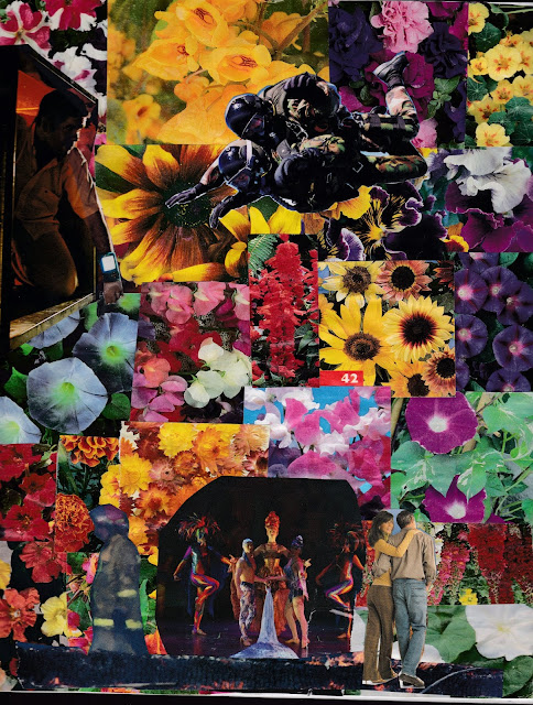 Discovering Another Garden - Collage by doug smith