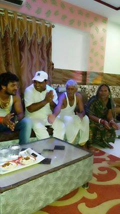 Khesari Lal Yadav with Father, Mother in home Chapra siwan, bihar Photo, Image