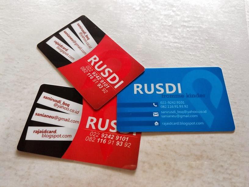 Kartu Nama Plastik / Kartu Nama ID Card