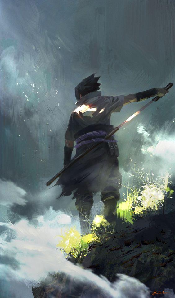 sasuke uchiha style