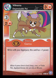 My Little Pony Winona, Dependable Pet The Crystal Games CCG Card